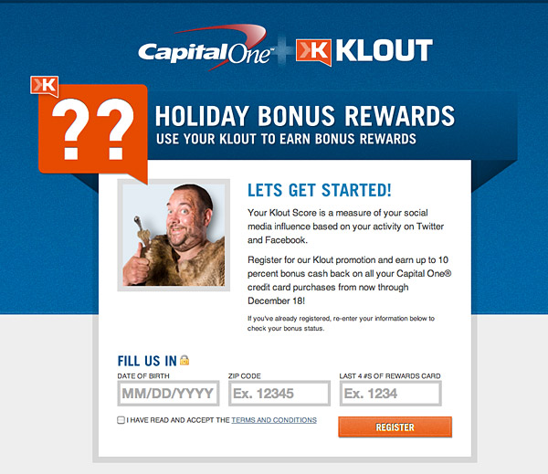 Capital One and Klout