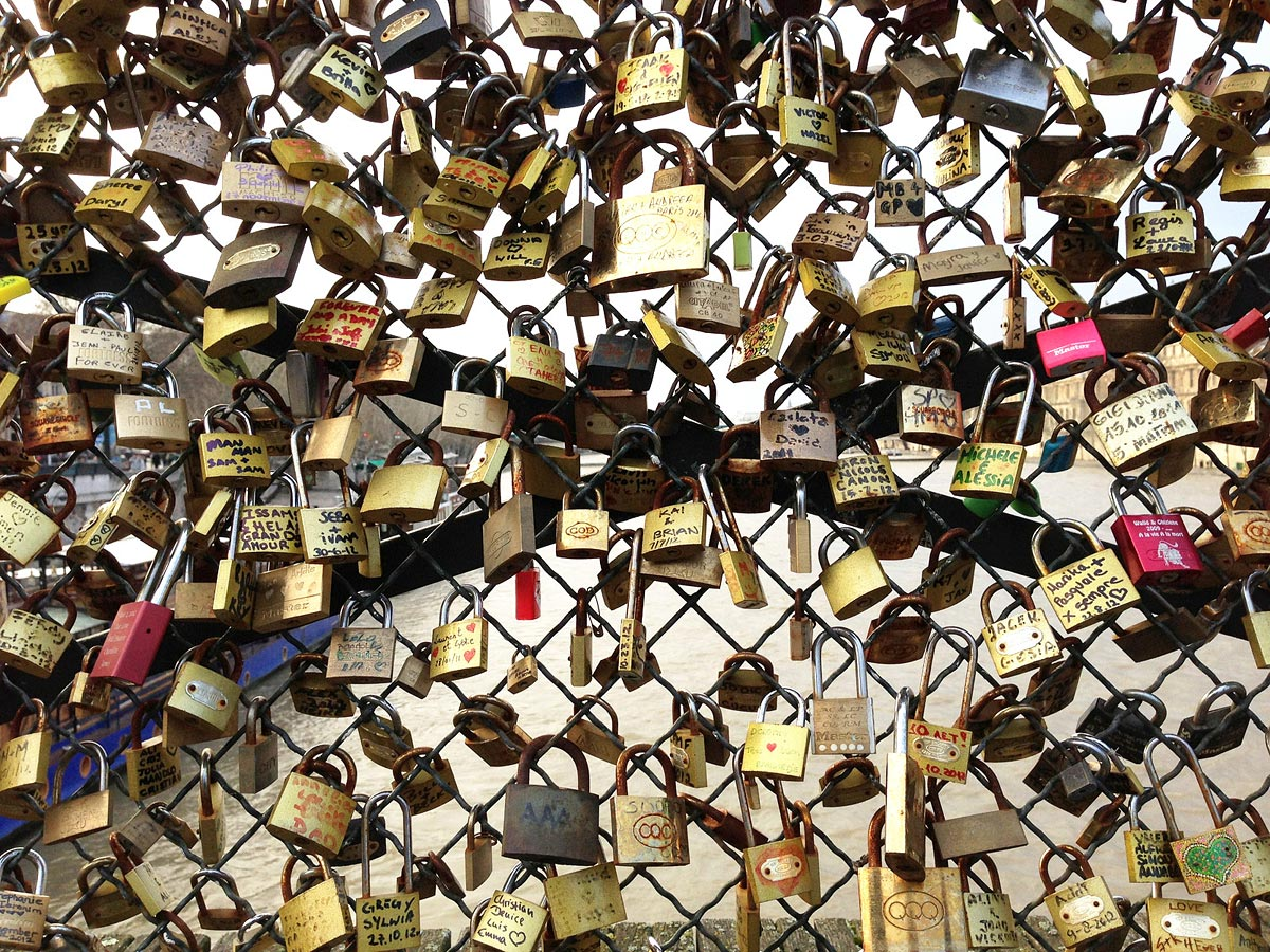 Pont des Arts, Paris, France, 2012