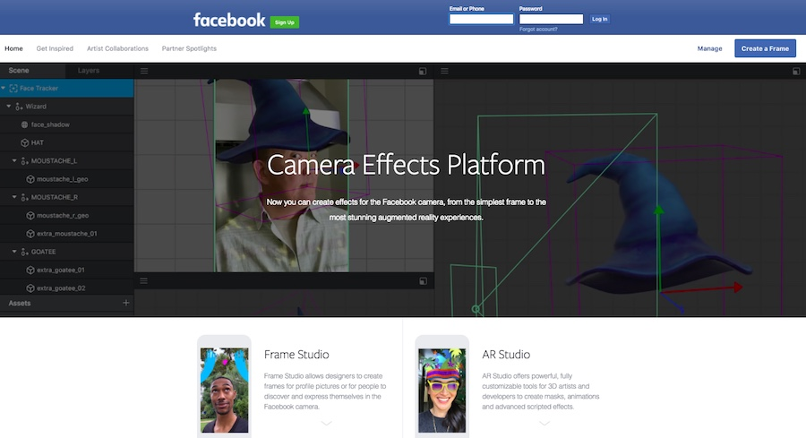 Facebook Camera Effects Platform